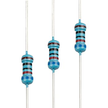 EDGELEC 100pcs 620 ohm Resistor 1/4w (0.25 Watt) ±1% Tolerance Metal Film Fixed Resistor, Multiple Values of Resistance Optional