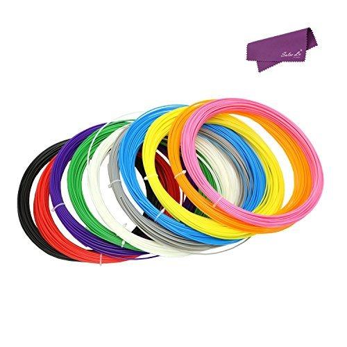 SalesLa 10 pacchetti x 10m ABS filamento 1,75 millimetri per stampante 3D Printing penna di illustrazione di diversi colori
