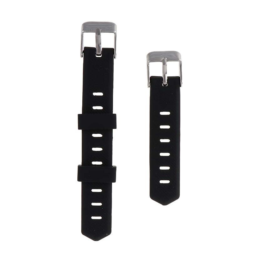 きゅうりロケーションミシン目Almencla 時計バンド 時計ストラップ ソフト 快適 耐久性 全3選択 Fitbit Alta/Flex適用 - ブラック