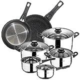 Bateria de cocina 8 piezas SAN IGNACIO en acero inoxidable, con...