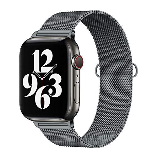 Correa de acero inoxidable para Apple Watch Se / 6/5 Band 44mm 40mm iWatch Serie 4 3 2 1 Pulsera Milanese Loop Correa de reloj 38mm 42mm