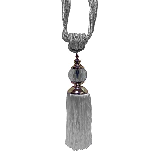 Decorative Black Ivory Taupe  French Large Glass Ball Tassel