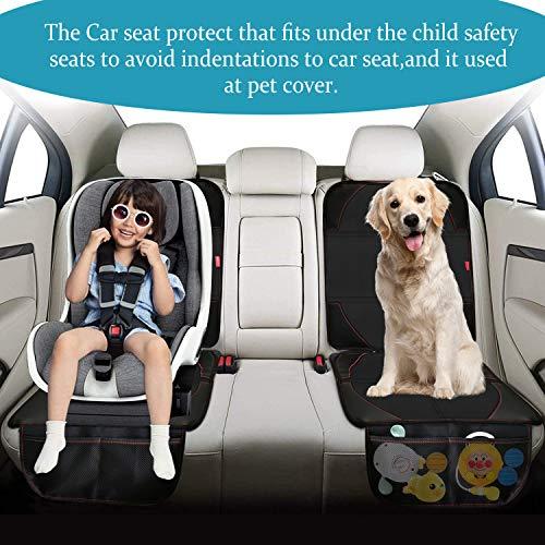 NWOUIIAY Protettori per Sedile Auto Impermeabile Coprisedile Auto per Bambini Proteggi Gli Interni in Pelle Antiscivolo Coprisedile Bambini Dellauto Facile da Installare e Pulire