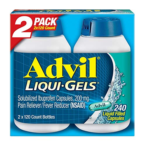 Advil Liqui-Gels (240 Count) Pain Reliever/Fever Reducer Liquid Filled Capsule, 200mg Ibuprofen, 240 Count