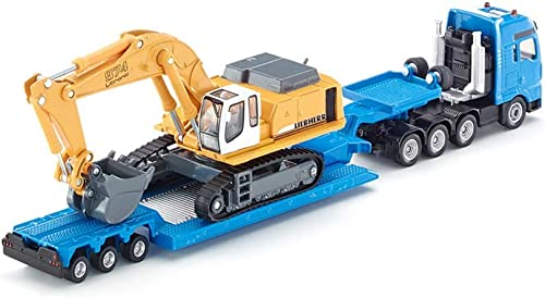 GLJJQMY Remorque Plat de Jouet de modèle de Voiture pour Enfants avec la Collection de Cadeau de modèle de Jouet SKUC1847 d'excavatrice