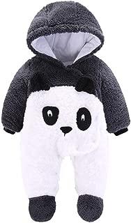 0-12 Months Baby Jumpsuit Newborn Outfit Infant Hoody Coat Toddler Winter Thicken Bodysuit Cartoon Snowsuit