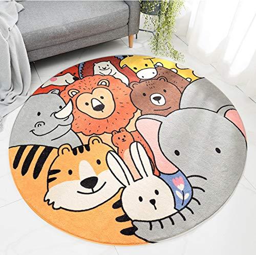 Cartoon-Anime-Teppich, Niedlicher Tierreich-Druck, Moderne Wohnzimmerdekoration Babyzimmerteppich Rutschfest 150X150Cm