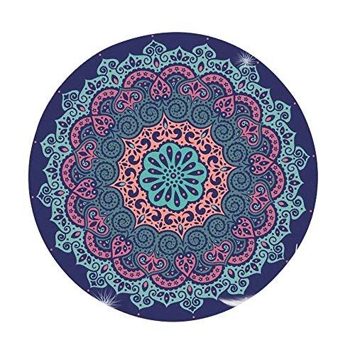 CHENC yujd - Esterilla de yoga redonda para yoga, antideslizante profesional, alfombra de lana