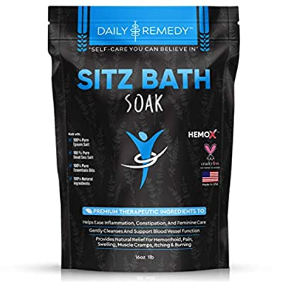 All Natural Sitz Bath Soak with Epsom Salt - Made in USA - for Postpartum Care, Hemorrhoid Treatment, Fissure Treatment & Yoni Steam - Perineal Soaking Bath That Soothes and Cleanses Inflammation from Finevine Organics