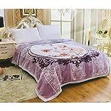 Nanki's Premium Double Bed Double Ply Blanket Queen Size Mink Blanket (90x100 inches)
