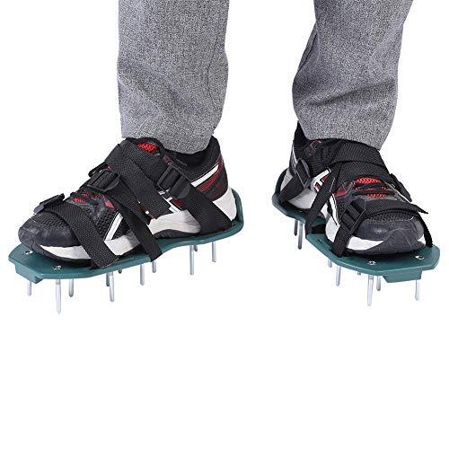 Topincn 1 paar gazonbeluchter sandalen vloer losse ventilatie verspringende schoenen tuin losse schoenen tuingereedschap voor groene tuin gras spikes 3 riemen.