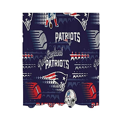 VF New England Patriots Gauze Curtain Splice Panels Living Room Home Bedroom Fashion Decoration Ring Top 2-Pack 140x198cm