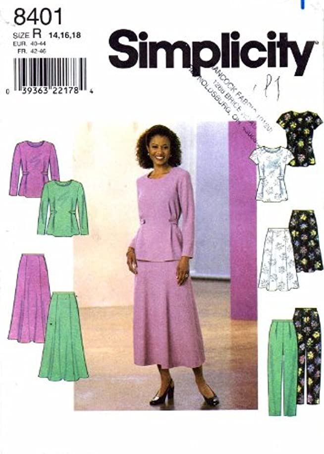 Simplicity Sewing Pattern 8401 Misses'/misses' Petite Top, Skirt & Pants, R Sizes 14 16 18