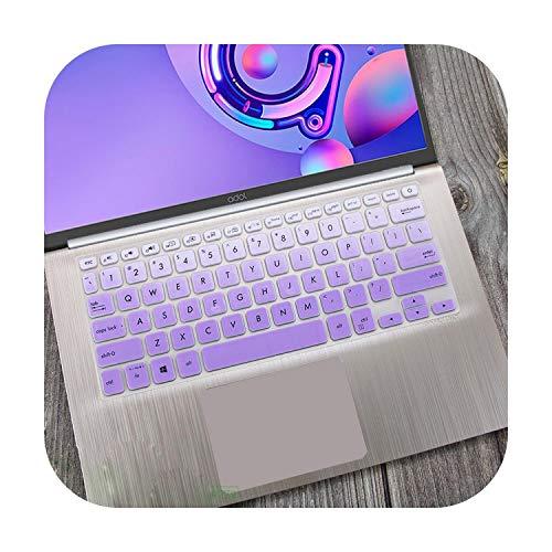 Funda Protectora de Silicona para Teclado de Ordenador portátil For ASUS Vivobook S14 S430UN S430FN S430F S430U S430FA S430 S 12 14 Pulgadas-fadepurple-