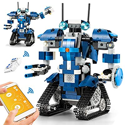 CIRO Robot Building Kits for Kids, STEM Remote Control Toys Educational Learning Science Building Gifts for Boys and Girls Ages 8 and up from CIRO