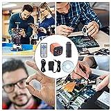24MP Cámara De Microscopio, USB HDMI Industrial Cámara Microscopio Electrónico, Video Microscopio 1080P 60FPS Lente Zoom 130X con Montura C