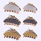 Sichy 6 Pezzi Capelli Clip Artiglio Clip, plastica Pinze per artigli dei capelli,Fermagli per capelli Claw, Accessori Per lo Styling Dei Capelli Per Donne Ragazze, 9 cm e 6 cm