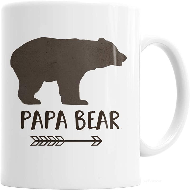 Papa Bear Coffee Mug Brown Watercolor