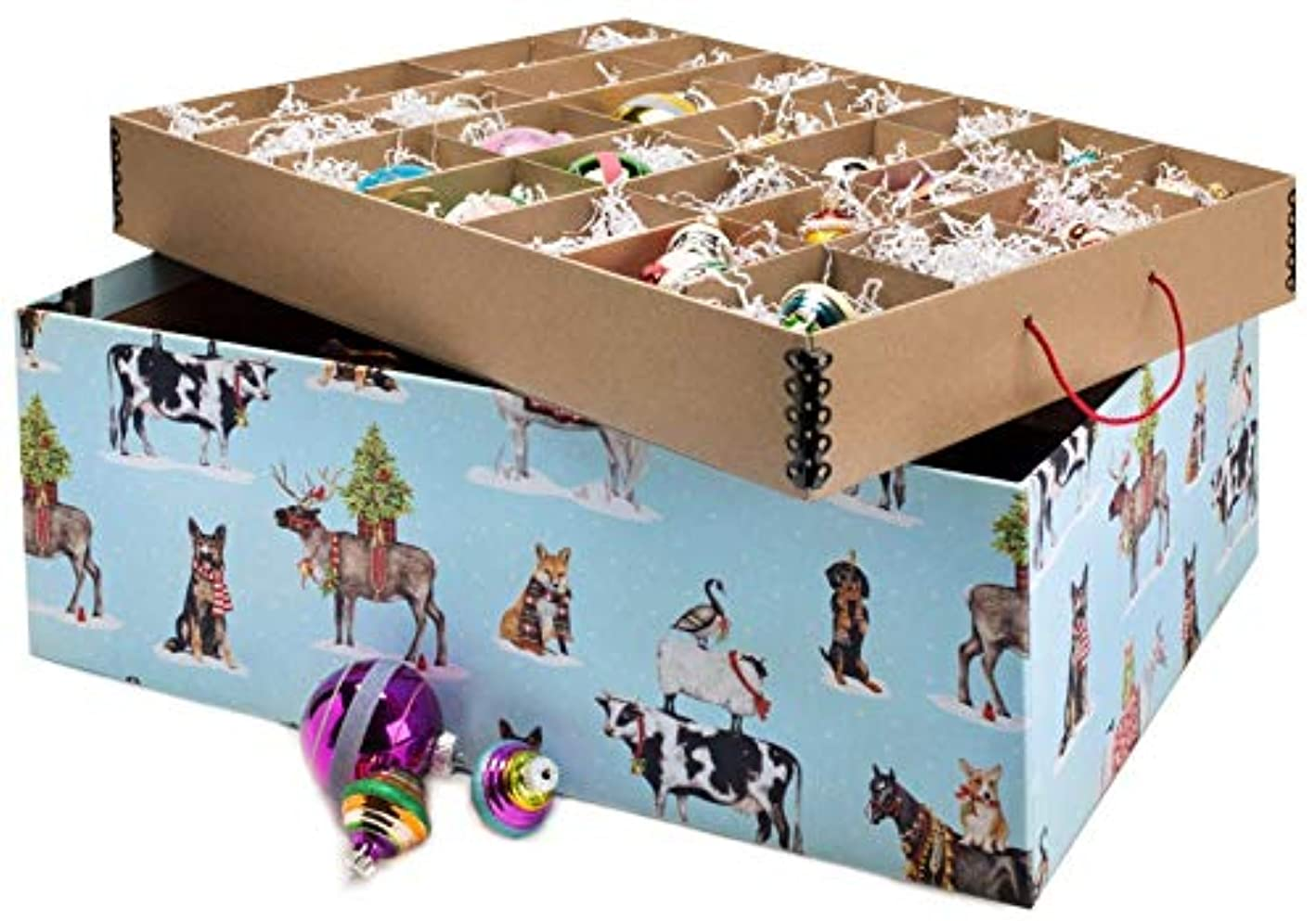 Ultimate Ornament Box - Holly Jolly Critters, Limited Edition, Acid-Free Ornament Storage Box