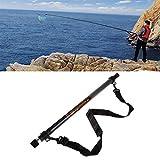 DZJUKD Duradero 4.5M retráctil de Aterrizaje de la Pesca Red Red Redondo Straight Brail Pole Herramientas portátiles Fácil Captura y liberación (Color : Black)