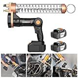 Hailong Cordless Electrical Grease Gun, Premium Car Grease Gun Set, 2 Reinforced Coupler Included (Color : Suitable bagged oil, Size : 2 x battery)