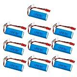 7 4V 450mAh 20C Batería Lipo para WLtoys K969 K979 K989 K999 P929 P939 RC Car Parts 2s 7 4V Batería 10pcs / lotes