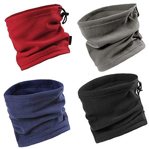 Wisolt Bufanda Tubular, 3 en 1 Polar Fleece Neck Warmer Mask Pasamontañas Braga Cuello Gorra de Invierno para Ciclismo Moto