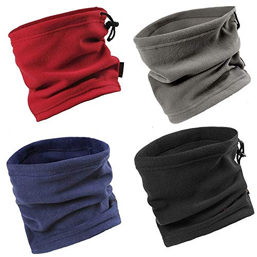 Wisolt Scaldacollo In Pile, 3 In 1 Multifunzione Beanie Mask Cervicale Warm Antivento,Moto Ciclismo Sci Snowboard Sport Neck Warmer For Donna Uomo