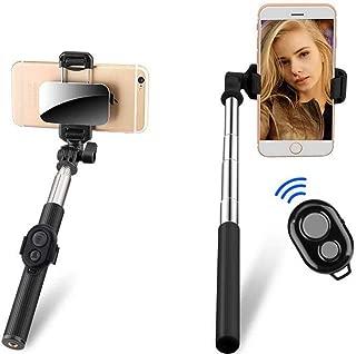 Adjustable Selfie Stick Bluetooth Wireless Remote,Black LSYOA Extendable Selfie Stick Tripod Stand