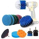 AUFISI-13 piezas del taladro cepillo Set Adjunto, Power Drill depurador del cepillo Kit, Kit de Limpieza de esponjillas para selladores de azulejo, bañera, lavamanos, Piso, Rueda, Alfombra