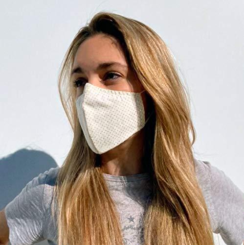 Dalisso tela reutilizable de algodón transpirable con filtro modelo Canarias