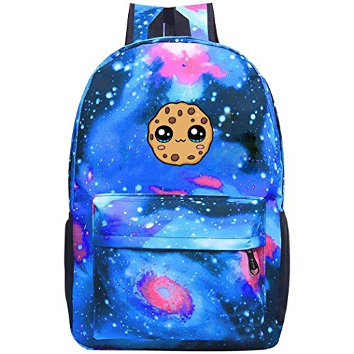 Cookie-Swirl-C Galaxy Canvas Backpack Fashion Travel Daypack School Bag Bookbags