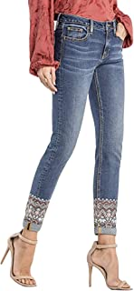 Women's Check Yourself Mid-Rise Ankle Skinny Jeans