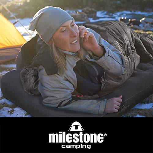 Milestone Camping Unisex's Flocked Airbed ~ Single, Blue