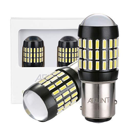 AGLINT 1157 LED Bombilla BAY15D P21/5W 66SMD 12V-24V Coche Motos Luces de Freno Luz de Estacionamiento De Cola Luz 6000K Blanco