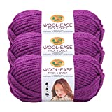 (3 Pack) Lion Brand Yarn 640-191 Wool-Ease Thick & Quick Yarn, Lollipop
