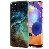 Verco - Custodia per Samsung A31, motivo premium, cover per Samsung Galaxy A31, in morbido TPU flessibile, con stelle e galassia
