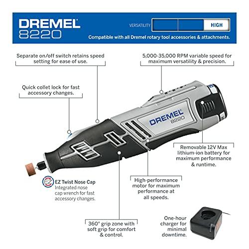 Dremel 8220-2/28 Inalámbrica 12 V Max litium-ion