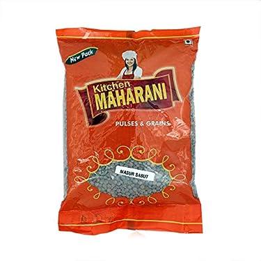 Kitchen MAHARANI Black Masoor Dal Whole / Kali Masoor Sabut ( Pack of 1 ) 500 Gram