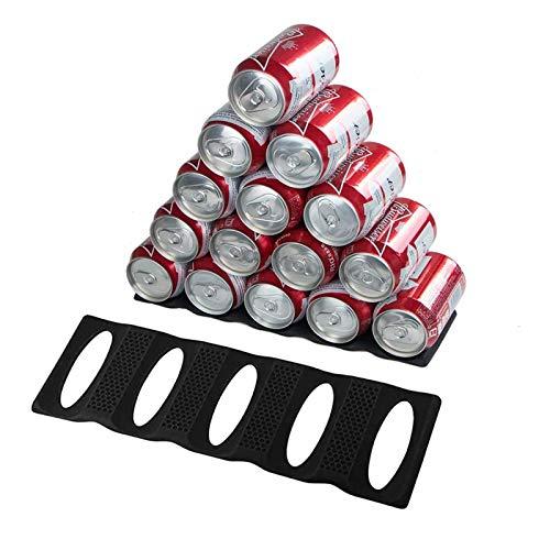 webake Flaschenhalter Flaschenablage Flaschenregal 2 Stück für Kühlschrank aus Silikon Stapelhilfe für Flaschen und Dosen Stapeln Stapel-Matte, hältet 15 Flaschen