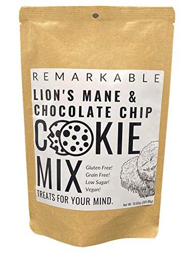 Lion's Mane Chocolate Chip Cookie Mix - 10.65oz - Organic - Low Sugar - Gluten Free - Vegan - Paleo...