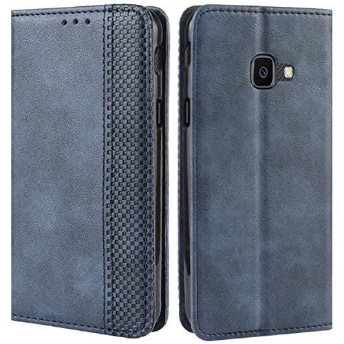 HualuBro Samsung Galaxy Xcover 4s Hülle, Galaxy Xcover 4 Hülle Leder, Stoßfest Klapphülle Schutzhülle Handyhülle Handytasche LederHülle Flip Hülle Cover für Galaxy Xcover 4s Tasche, Blau