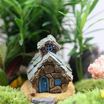 Ogquaton Mini Casa de Piedra Decoración Jardín de Hadas Miniatura Artesanía Micro Paisaje Bonsai Decoraciones Durable y Práctico: Amazon.es: Hogar