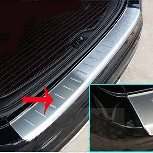 WXQYR 1 unid Textura de Acero Inoxidable Exterior del Parachoques del Maletero del pie de la Puerta Trasera de la Placa de protección antiarañazos para Volvo XC60 2013-2017
