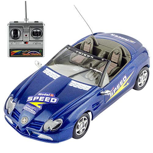 Liberty Imports Super RC Remote Radio Control Convertible Toy Race Car - 1:18 RTR Sports Coupe Vehicle Model Racer (Colors Vary)