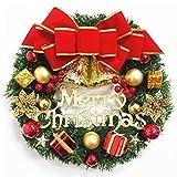 WanXingY Ornamento Arreglo Guirnalda Navidad Guirnalda Bow Bell Bell Navidad Año Nuevo Festival Hermosa decoración Decoración Herramientas 30 cm (Color : H003)