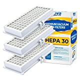 VEVA 3 Pack Premium Vacuum HEPA Filter Set Model SF-HA 30 Works with Miele S7 and U1 Series Vacuum Cleaners
