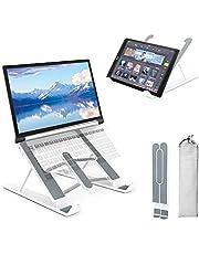Fällbart ställ för bärbar dator, PEYOU flera vinklar justerbara bärbara stativ, bärbara bärbara ställ för bärbara datorer, höjdjusterbara notebook-ställ kompatibel med MacBook Pro Air, Dell, 10–15,6 tums bärbar dator surfplatta