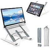 """Soporte Portatil Mesa 6 Ángulos Ajustables, PEYOU ABS+Silicona+aleación de Aluminio, Soporte Ordenador Ventilado Plegable, Laptop Stand, Ligero Soporte Mesa para MacBook, DELL, iPad ,HP, PC,10-15.6"""""""
