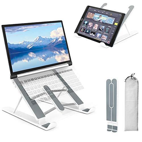 SupportoPCPortatileScrivania,PEYOU6LivelliRegolabileErgonomicoVentilatoDesktopPortaComputerProtezioneCompleta,PortatileRiserperNotebookper10-15.6'MacBook,iPad,Tablet,Laptop